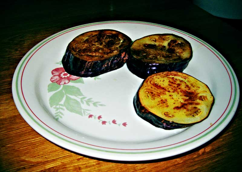 fried aubergine slices by martushka