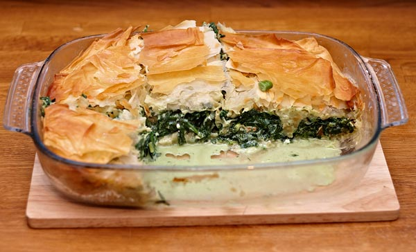 spanakopita for six by quall